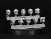 SMA101 Fine Scale Female Heads