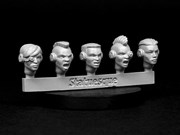 SMA3XX Heroic Scale Female Heads - Techno Raiders Sprue 1