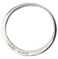 Sterling Silver Bangle - Adult Sizing