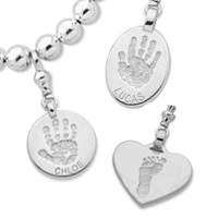 2cm DOUBLE Sided, Sterling Silver, 1 hand or 1 foot