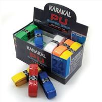 Karakal PU Super Replacement Grip box of 24 units assorted colours