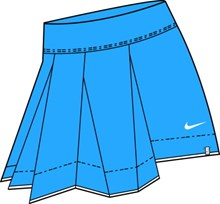 Nike 334974-408 Serena/Athlete Woven Pleated Skirt,SALE $49.00