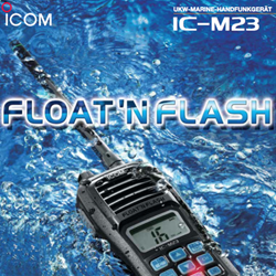 ICOM M23 FLOATING Hand Held VHF Radio