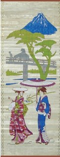 Japanese Scene on Balsawood Wall-Hanging