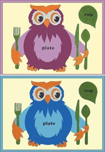 Owl Placemats X 2