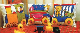 Train Cuddle Cushions Set-of-3