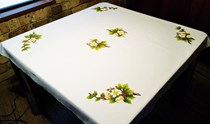 Christmas Rose Tablecloth