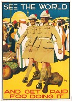 SEE THE WORLD - First World War Propaganda Poster