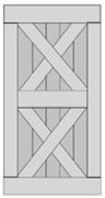 Double X-Brace Barn Door BD008-920