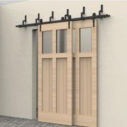2M Bypass Sliding Barn Door system B02