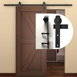 2.4M Side Mount Sliding Barn Door hardware B07