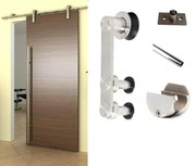 2M Side mounted Barn Door Hardware S02-20(For 16-24mm thickness door)