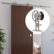 2.4M Top mounted Sliding Barn Door Hardware S05