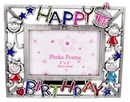 Happy Birthday Photo Frame with Glitters