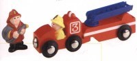 Wooden Road & Rail Accessory - Fire Engine & Fireman