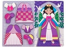 Melissa & Doug Princess Dress Up Chunky Wooden Puzzle