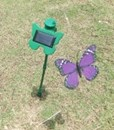 Solar Powered Fluttering Purple Butterfly