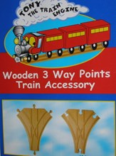 Tony Train Engine Wooden Train Track - 3 Way Points