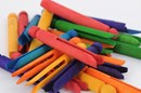 Wooden Dolly Pegs 24 pack - Coloured
