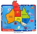 Fun Factory Australian States Map Raised Wooden Puzzle