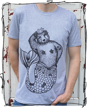 'Brian Queen of the Sea' T-Shirt - Grey, White or Raglan