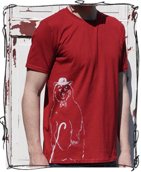 Disguise Bear Antique Red T-Shirt