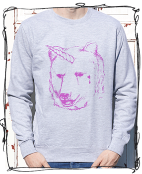 'I Dream Of Unicorn' Grey Jumper