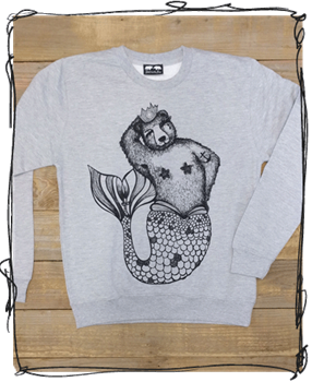 'Brian Queen of the Sea' Jumper - Cranberry, Hawaii Blue or Grey