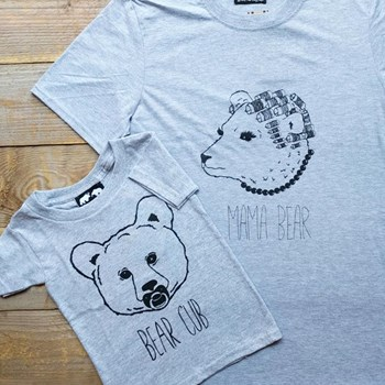 Two Bears T-Shirt Set (Mama or Papa Bear tee with Bear Cub Tee)
