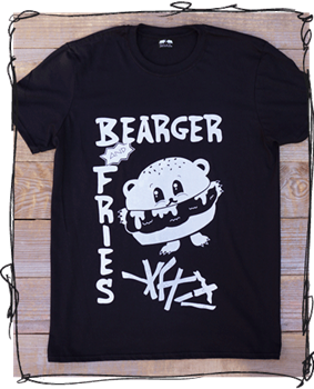 Bearger & Fries - Black or Charcoal Tee