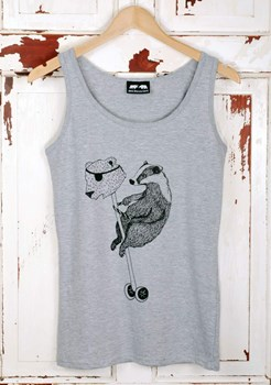 Badger rules the playground - Women's  Vest - Grey or White