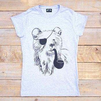 Pirate Bear - Women's - Grey Tee
