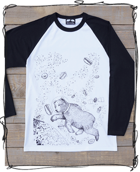 'Yum Yum Space' Raglan Tee