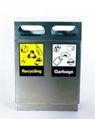 R745 Recycle Bin Stainless Steel