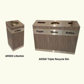 AR500 Recycle Triple Bin