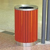 L450 and L600 Timber Slat Round Bins