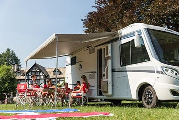 Fiamma F70 Awning 400cm, White Case with a Royal Grey Canopy