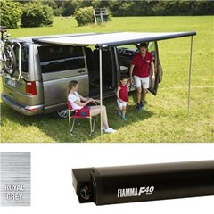 Fiamma F40 VW T5 awning, 270cm - Black case with a grey canopy