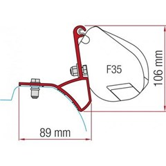 Fiamma F35 awning bracket - Renault Traffic, Vauxhall Vivaro, Nissan Primastar (After 2015)