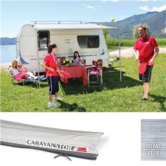 Fiamma Caravanstore XL 280 awning - Royal Blue Canopy