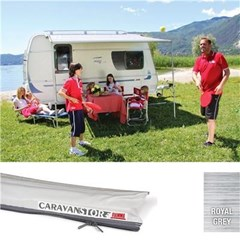 Fiamma Caravanstore 410cm Awning - Royal Grey canopy