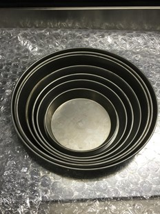 "10 X 14"" IRON PIZZA PANS 1.5"" FOR DEEP PAN PIZZA PROFESSIONAL QUALITY 10 X 14"""