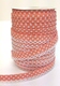Salmon spot lace bias binding (double fold) PRICED PER METRE