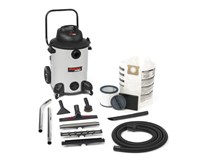 SHOP VAC PRO 60 9273651 60Litre HEPA Filter Wet and Dry Commercial Vacuum Cleaner with trolley for Plaster Concrete Building dust