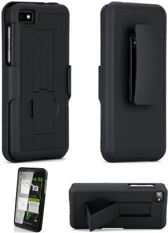 buy popular 1addc 36c12 PureGear BlackBerry Z10 Black Hard Case Holster Combo