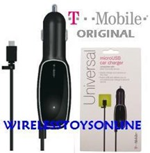 T-Mobile Micro USB OEM Original 1000mAh Car Charger with USB Port