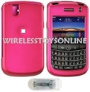BlackBerry 9630 9650 Bold Pink Rubberized Hard Case