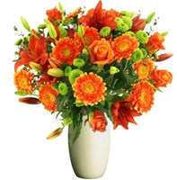 Stunning Orange Flowers, Bunches From $55