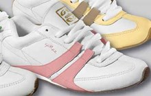 Gallaz Split Shoes: White Pink
