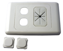 Outlet Plate – Cable Management plus 2 Outlets 05MM-WP62